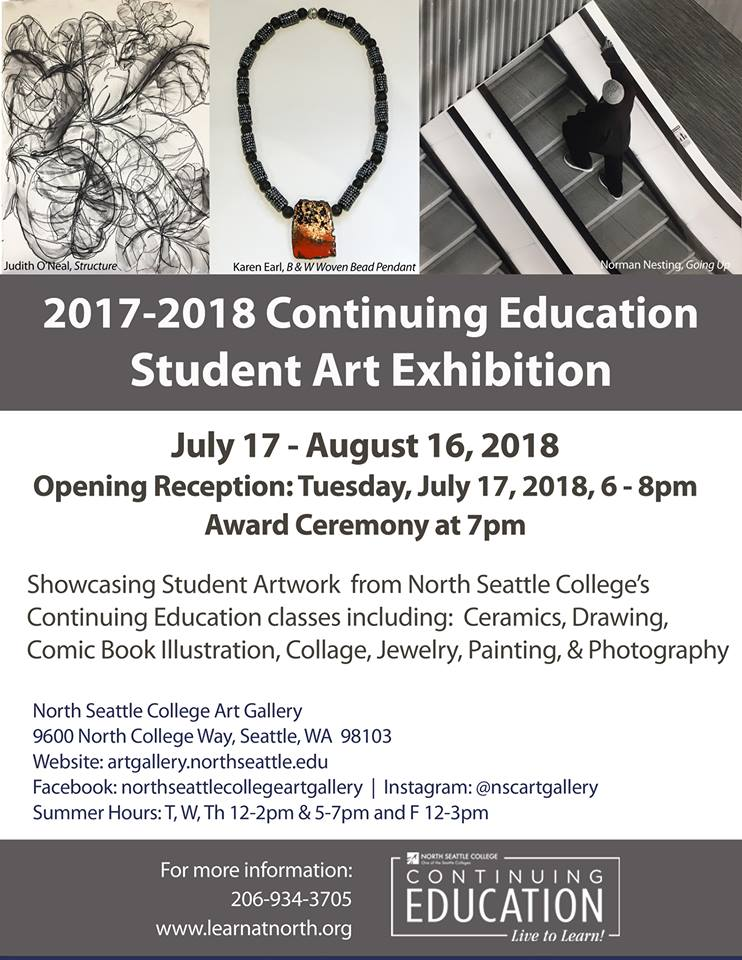 2017-2018 Continuing Education Student Art Exhibition
