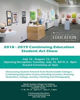2019 Continuing Education Student Art Exhibition